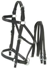 Australian Leather Halter/Bridle Combination - Black or Brown Leather