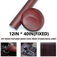 1X Wood Grain Textured Vinyl Wrap Sticker Decal Sheet Film Car Home Table Decors