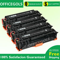 4PK CF380A Black Toner Cartridge For HP 312A LaserJet M476dw M476nw M476dn MFP
