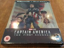 CAPTAIN AMERICA - THE FIRST AVENGER. SEALED 4K & BLU RAY STEELBOOK. MARVEL.