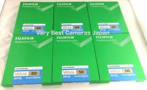 6 Packs FUJIFILM VELVIA 50 4x5 Film 20 Sheet/pack CUTVELVIA50NP4X520 FRESH Film