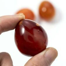 Natural Red Carnelian Agate Crystal Energy Palm Stone Healing Gemstone Gifts