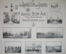 1908 CHATEAU BON-AIR BORDEAUX WINE WINERY VITICULTURE VIEWS BY HENRY GUILLIER