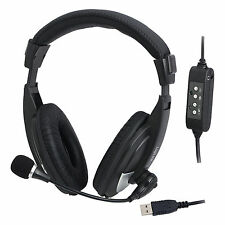 LogiLink USB Stereo Headset con Microfono-High quality Cuffie Micro hs0019