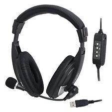 LogiLink USB Stereo Headset mit Mikrofon - High Quality Kopfhörer Mikro HS0019