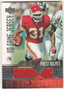 PRIEST HOLMES 2004 Upper Deck Game Jerseys #PHGJ Relic Chiefs  ID:8228