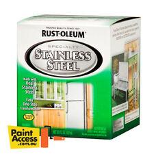 Rust-Oleum STAINLESS STEEL Paint 887ml Interior/Exterior use for metallic finish