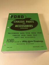 FORD CHASSIS PARTS and ACCESSORIES CATALOGUE 1928-48 - 1928-1947 AMAZING CONDITN