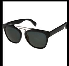 Yohji Yamamoto Black Double Bridge Sunglasses + YY5003 019 - NEW