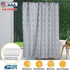 "70""x70"" Polyester Waterproof Bath Shower Curtain Anti-mildew Rings Set+12 Hooks"