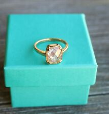 5Ct Radiant Brilliant Cut Citrine Solitaire Ring Yellow Gold Filled, size 7