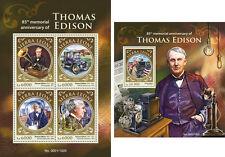 Thomas Edison Phonograph Cars Science Transport Sierra Leone MNH stamp set