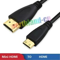 3-10ft Premium Mini-HDMI to HDMI Male 1080P HDTV V1.4 Type A to C Adapter Cable