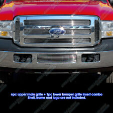 Fits 2005-2007 Ford F250/F350 Super Duty Billet Grille Combo