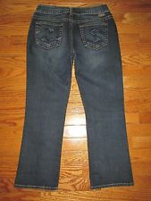 Silver Jeans Suki Western Glove Works Size 27 Dark Denim Cropped Capri Jeans