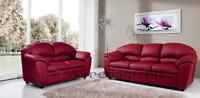 divano imbottito 2 posti 3 posti in ecopelle pelle salotto sofà divani ITALIA 01