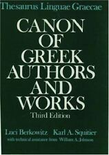 Thesaurus Linguae Graecae: Canon of Greek Authors and Works, , , Good, 1990-10-2