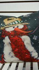 Snowman Winter Christmas Toss Throw Pillow Cushion Holiday Home Decor