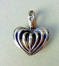 LAGOS Caviar Pendant Sterling Silver Fluted HEART 925 Necklace