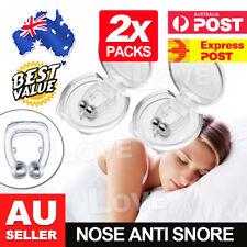 2x Anti Snore Magnetic Silicone Nose Clip Stop Snoring Apnea Aid Device Stopper