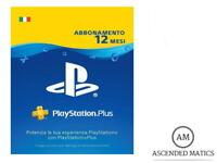 PLAYSTATION PLUS ABBONAMENTO ANNUALE 12 MESI 365 GIORNI - PSN PS4 PS3 PS VITA