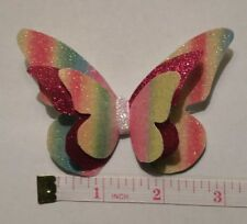 """3"""" Plastic, Butterfly Hair Bow Template Make Your Own Glitter fabric Bows"""