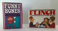Two Vintage Parker Brothers Games 1968 Funny Bones & 1976 Flinch Both Complete