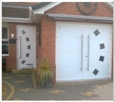 40mm Insulated Side Hinged Garage Door Side Hung Opening Contempory Designer