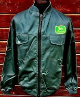 "FULLY LINED John Deere Badged Jacket 4x4 Agriculture Landscaping 39.5"" Chest"