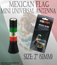 JDM 2 inch Mexican Flags support homeland Aluminum AM/FM Radio Car Antenna P42