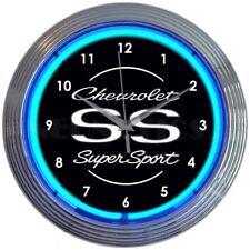 Chevrolet SS Super Sport Neon Clock 8CHVSS SS® w/ FREE Shipping