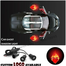 LED Car Door Red Flaming Hearts Logo Courtesy Projector Laser Ghost Shadow Light