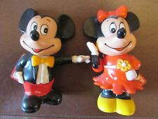VINTAGE DISNEY MICKEY AND MINI MOUSE BANKS (MINT)