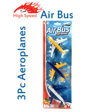 3Pcs Aeroplanes , Air Bus Toy Best for Kids Fun Play and Full Entertainment Gift