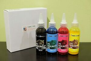 Sublimation 8 Refillable Ink Cartridges and 4x100ml Ink Colors Epson Printers
