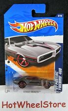2011  Hot Wheels  Gray  '67 PONTIAC FIREBIRD 400   Card #86   HW40-012619