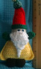 Ollie, a blue-eyed gnome!  Handcrafted - amigurumi - crocheted.
