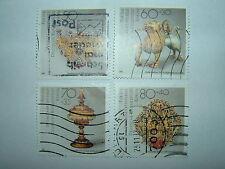 1988 WEST BERLIN HUMAN RELIEF FUNDS METALWORK SET x 4 VFU (sgB812/5) CV £6.75