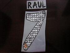 TRIBUTE RAUL #7 Real Madrid Home 2013-14 RAUL FAREWELL PU PRINT