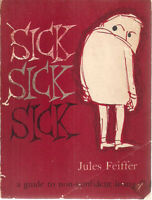 SICK SICK SICK a cartoon collection by Jules Feiffer (1958) McGraw-Hill SC