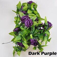 Fiori e piante finte viola in plastica per la decorazione della casa