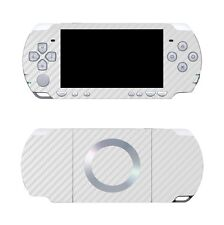 White Carbon Fiber Vinyl Decal Skin Sticker Cover for Sony PSP 2000