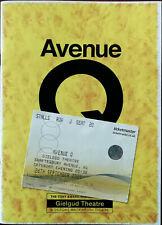 Avenue Q The Tony Award Winning Musical, Gielgud Theatre Programme 2009 + Ticket