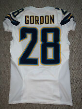 2016 SAN DIEGO CHARGERS MELVIN GORDON GAME WORN USED JERSEY PHOTOMATCHED