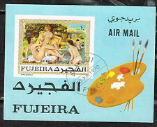 Manama Art Renuar Nudes Famous Paintings rare Souvenir Sheet 1970 imperforated