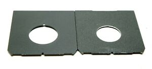 Two: Toyo & Unbranded Off-Center Lens Boards For Linhof Technika F/Copal #0 & #1