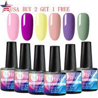 MTSSII 6 Bottles/set 8ML UV Gel Nail Polish Set Soak Off Varnish Kit Tips UV/LED