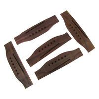 Set of 5pcs Acoustic Guitar Bridges Rosewood 6-String Guitar Bridge Saddles