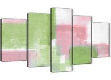 5 Pezzi Rosa Lime Verde Astratto Camera Da Letto decorazioni in tela - 5374 - 160 cm
