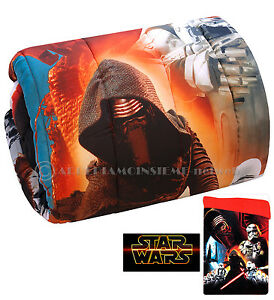 Courtepointe Star Wars Guerre des Étoiles Unique Lit 1 Carré Hiver Bébé Disney